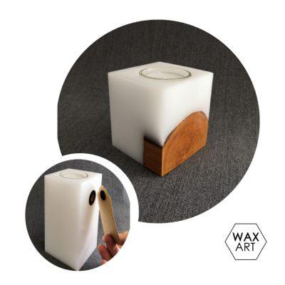 Holzkerze klein mit Magnetpin